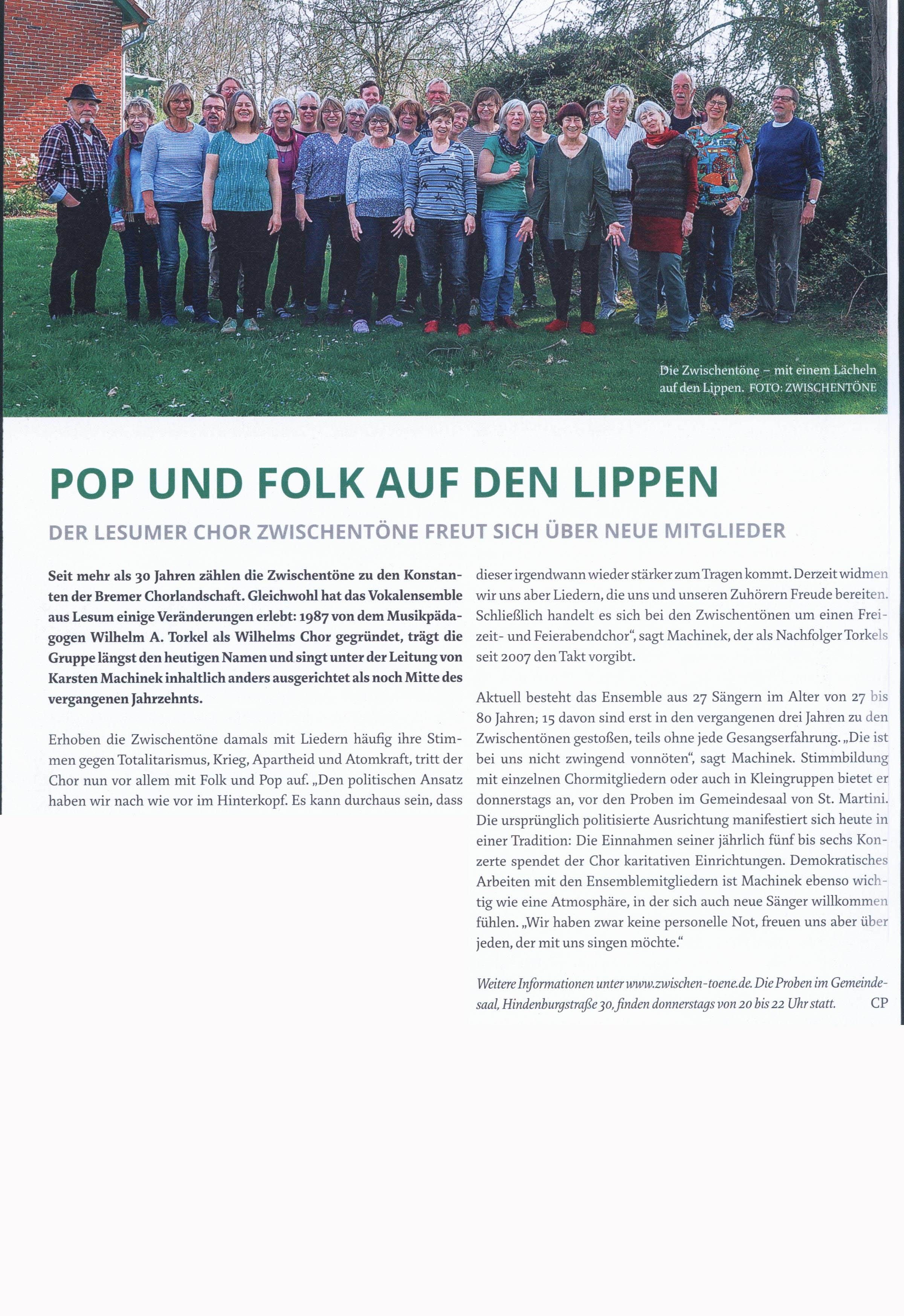 Weserkurier - Artikel 09.2019
